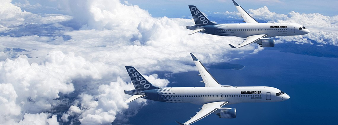 Bombardier makes the wings for its C Series model at a factory in Belfast ©Bombardier