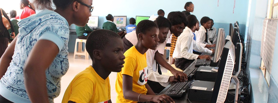 95,000 computers have been installed in 5,000 schools across Africa