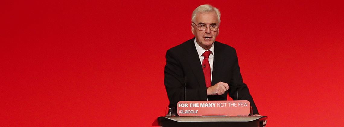 McDonnell told the Labour conference in Brighton that the PFI deals had resulted in huge long-term costs for taxpayers © PA Images