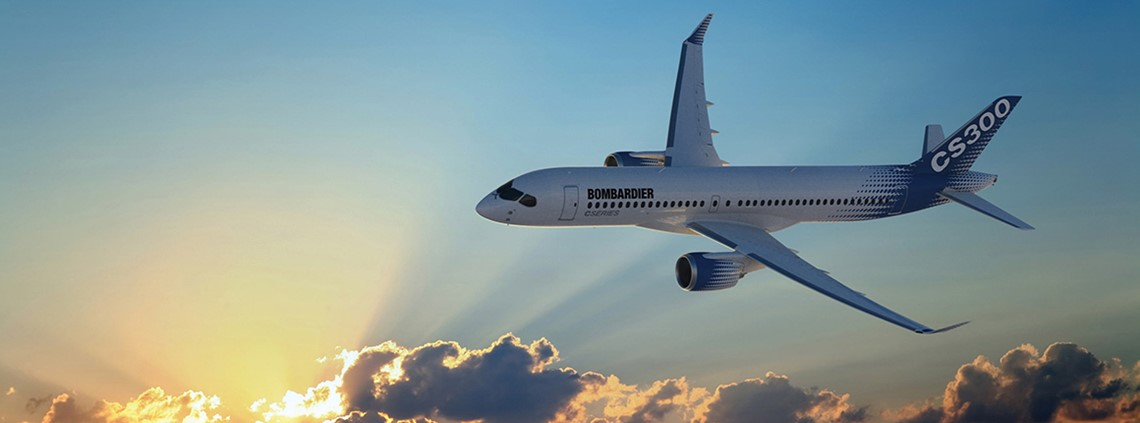 The US Department of Commerce proposed a 220% tariff on Bombardier's C-Series planes ©Bombardier