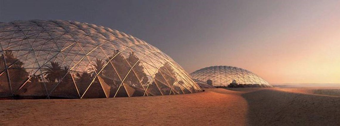 Artist's impression of Mars Science City ©mediaoffice.ae