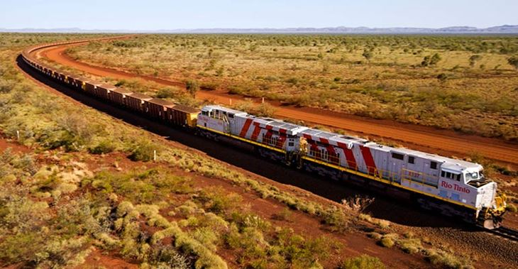 Rio Tinto aims to operate the world's first fully autonomous heavy-haul, long distance rail network © Rio Tinto