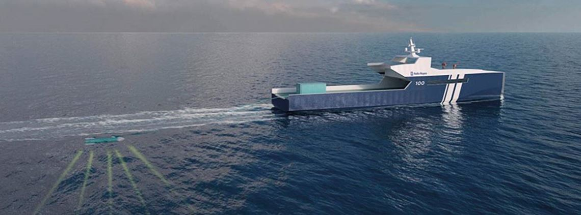 Rolls-Royce's autonomous ships will use Google's technology to detect and track objects at sea © Rolls Royce