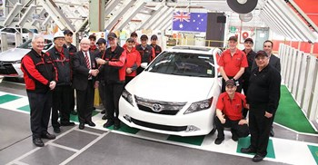 Last week, Toyota's last car rolled off the assembly line at its Melbourne plant © Marks and Spencers