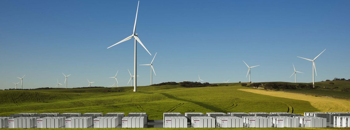 Tesla will provide battery storage and Vestas will supply wind turbines © Tesla