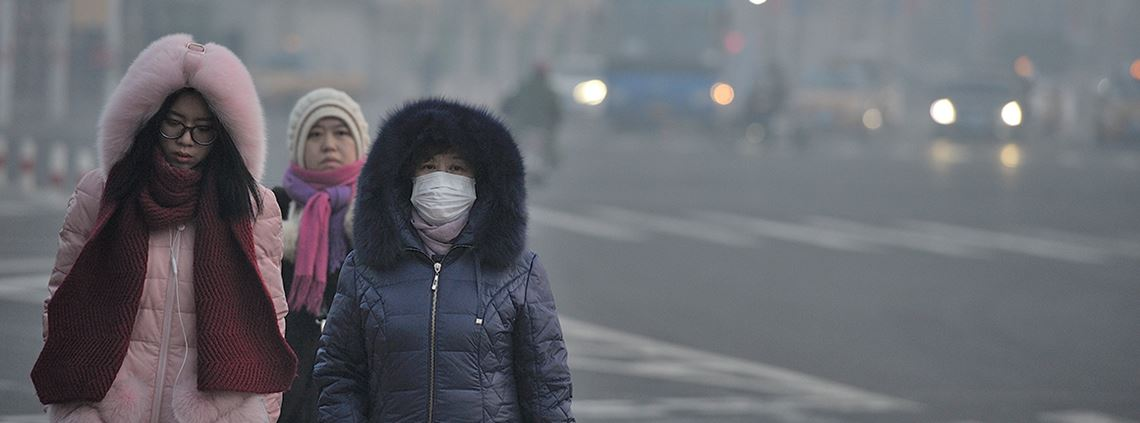 Harbin was one of several cities to suffer from the toxic haze that covered parts of China last year ©SIPA USA/PA Images