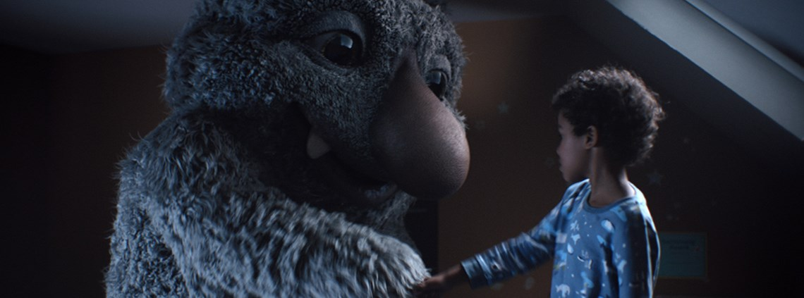 The John Lewis ad features a monster called Moz