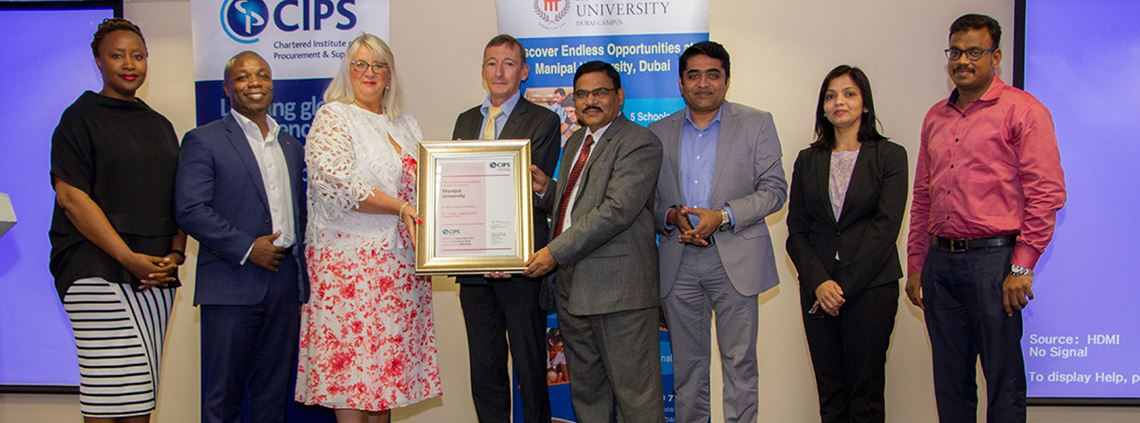 CIPS group director Amanda O'Brien presented the accreditation during an event at Manipal University's Dubai campus