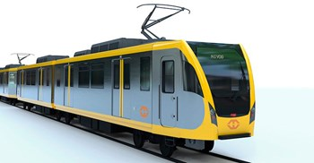 The trains will operate along the 20km elevated LRT Line 1 connecting north and south Manila © Mitsubishi
