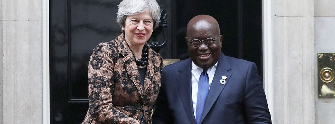 President Akufo-Addo met with prime minister May to strengthen ties between the two countries © PA Images