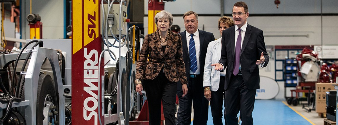 Prime minister Theresa May said the strategy would help create conditions for successful businesses to grow ©PA Images