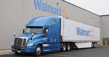 Wal-Mat have been charging suppliers monthly fines of 3% for late deliveries © Wal-Mart