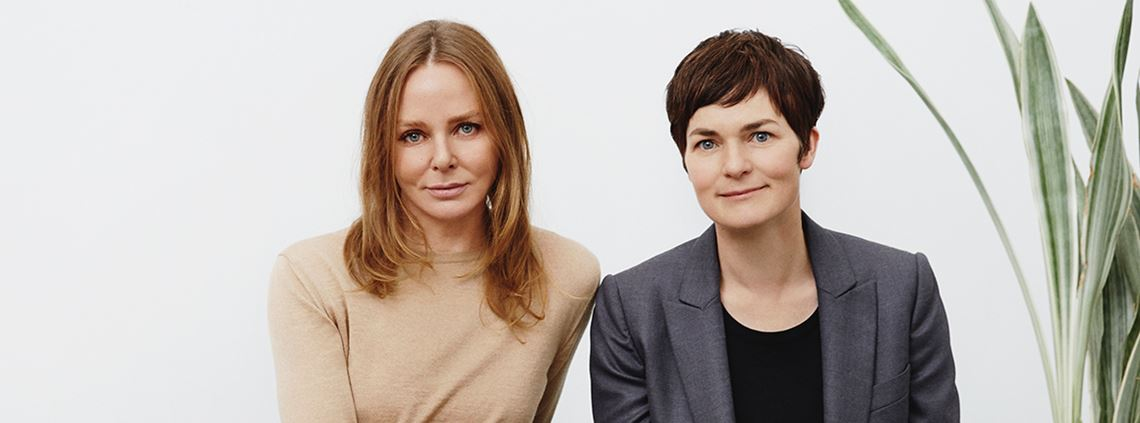 Stella McCartney, left, and Ellen MacArthur have called for changes in the garment sector ©Ellen MacArthur Foundation