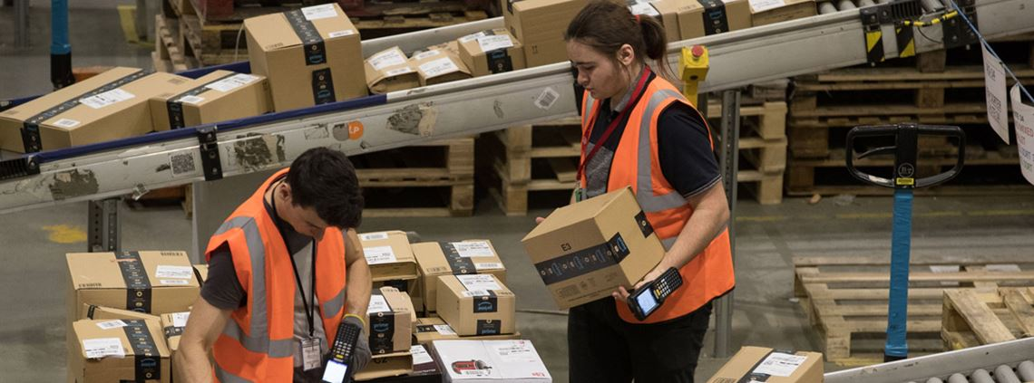 Amazon's B2B platform provides a marketplace to buy office equipment and IT supplies with Amazon's next-day delivery service © PA Images