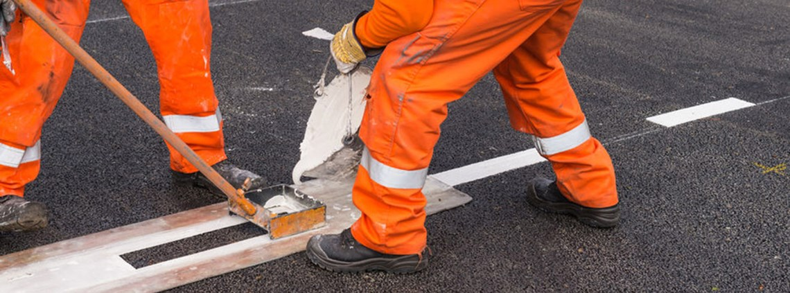 £9m has been saved by changing the way lines are painted on roads