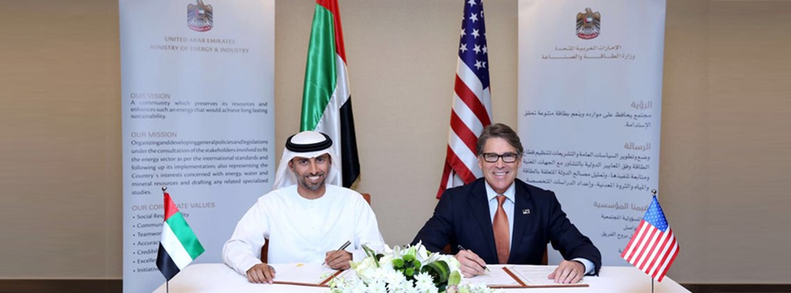 Al Mazrouei and Perry signed a deal to work together on energy development and trade © Ministry of Energy
