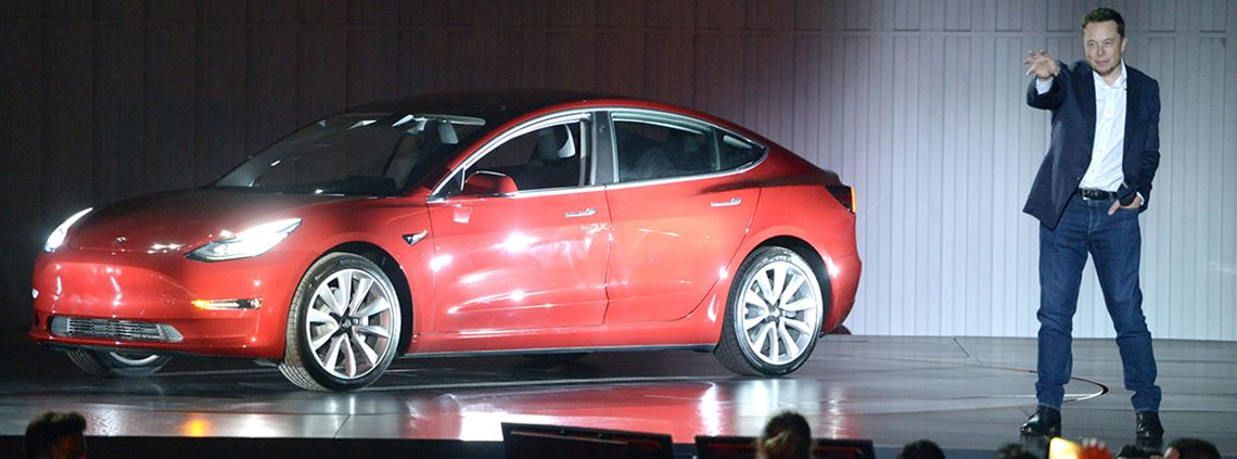"Production of the Model 3 was delayed when a subcontractor ""dropped the ball"" © PA Photos"