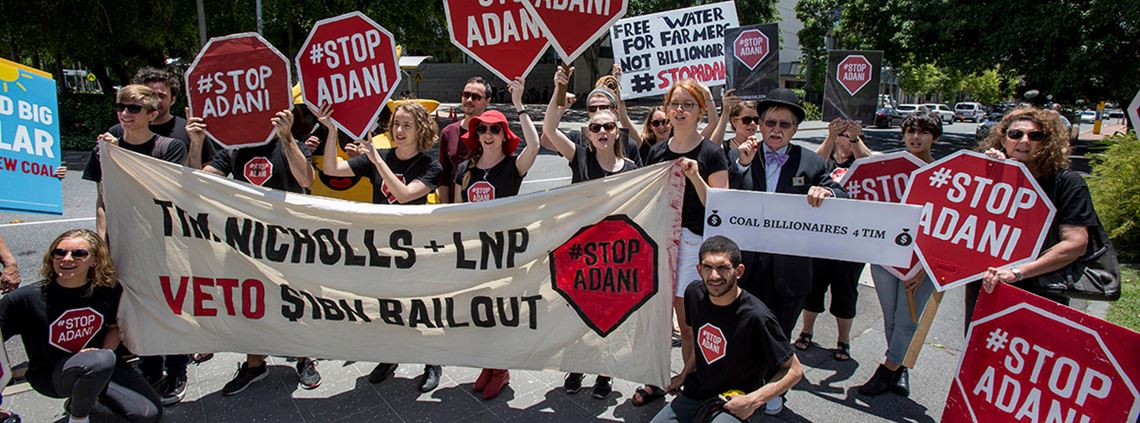 Queensland Adani mining and processing sites have been targeted by anti-coal protesters © AAP Image/PA Images
