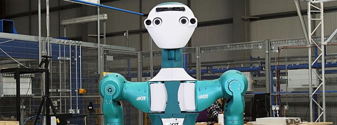 The SecondHands robot has superhuman strength to assist maintenance engineers © Ocado Innovation Limited