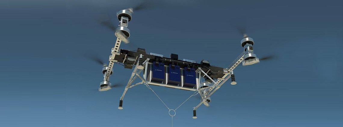 Boeing said its cargo air vehicle can lift up to 225kg of cargo © Boeing