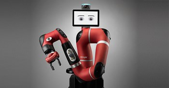 DHL uses Sawyer – a cobot that picks and co-packs – to help fulfil large orders ©Rethink Robotics