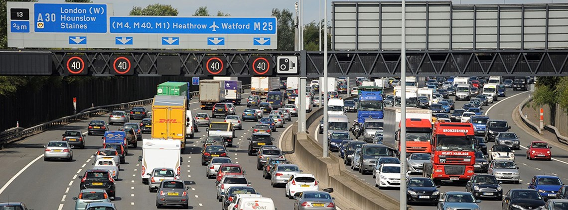 Highways England will pay £8bn under a PFI for a £1bn capital investment in the M25 © PA Archive/PA Images
