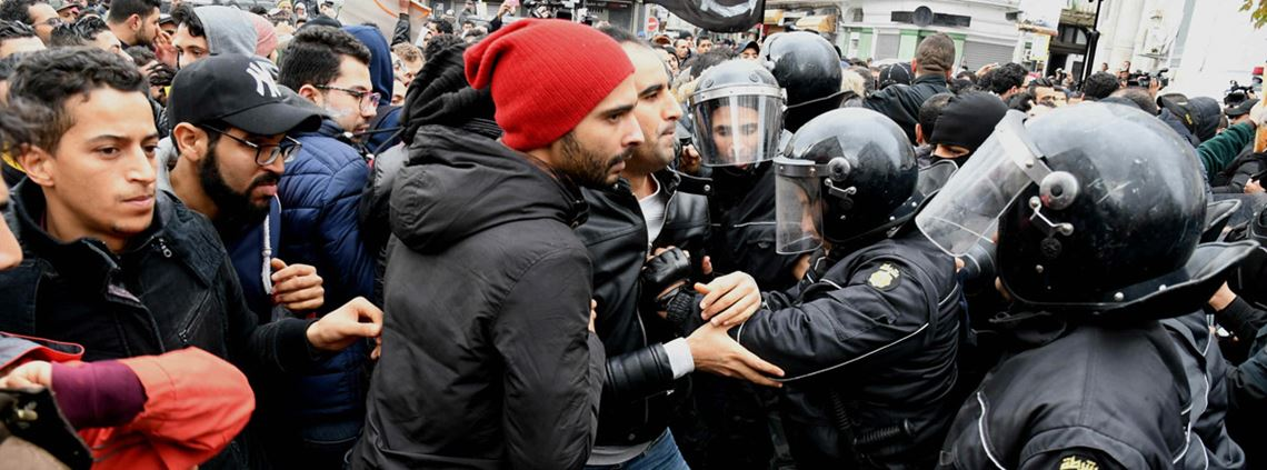 Price hikes sparked clashes in the Tunisian capital Tunis at the start of January ©Xinhua News Agency/PA Images