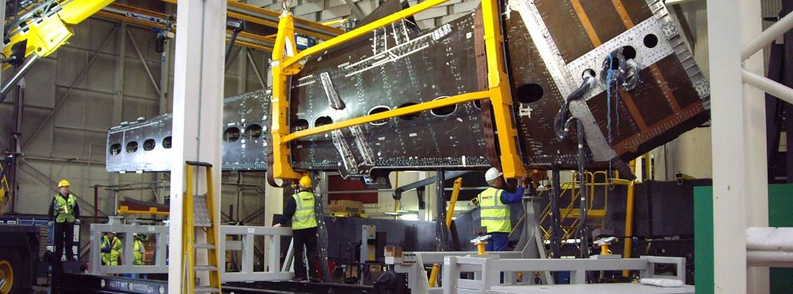 Bombardier's Northern Ireland plant makes wings for the C-Series jet © Bombardier