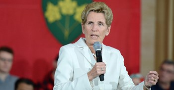 Ontario premier Wynne said she would table the bill when the legislature reconvenes later this month © PA Images