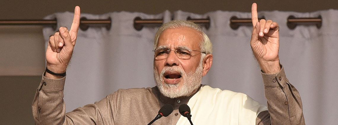 PM Modi said India was best placed to use the power of technology to leapfrog into the future © PA Images