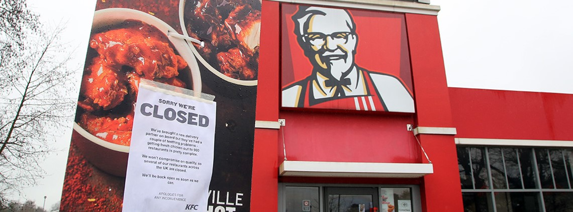 Nearly two thirds of UK KFC branches were forced to close yesterday because of chicken shortages ©PA Images
