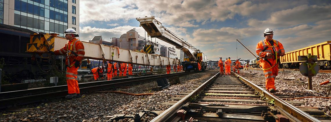 Almost 100% of NR's work in the first three years of CP5 went to UK-based companies © Stuart Dopson/Network Rail