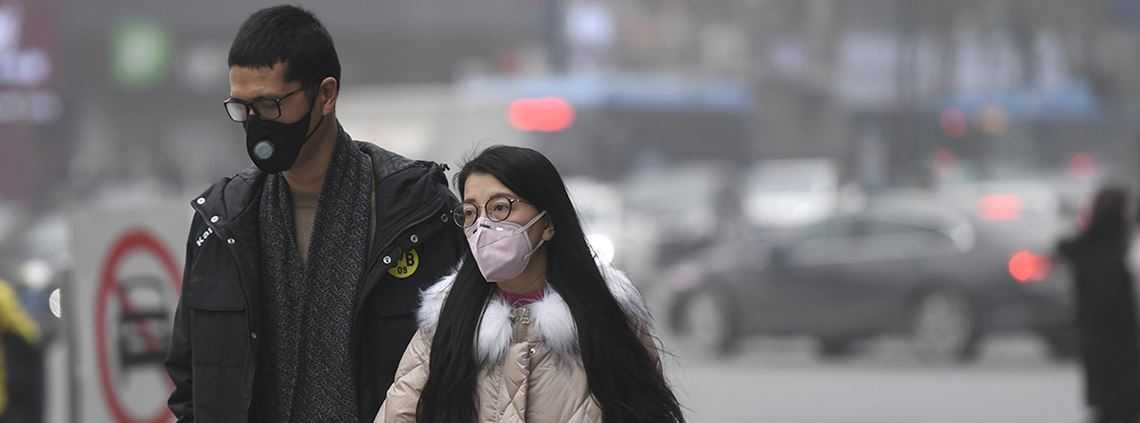 Pollution levels have fallen overall but risen in the Yangtse and Pearl river deltas © Xinhua News Agency/PA Images