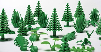 Plant-based polyethylene currently account for 1-2% of the plastic pieces produced by Lego ©Maria Tuxen Hedegaard/Lego
