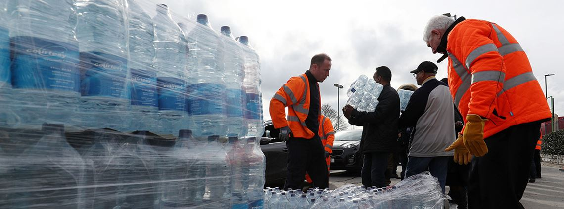 Businesses and homes were left without water in parts of London, the south east, Wales and the Midlands ©PA Images