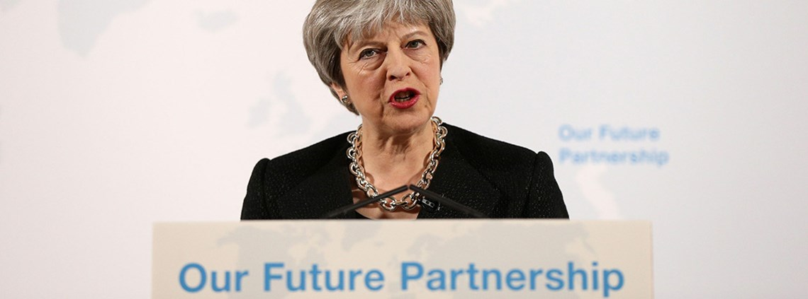 In her Mansion House speech PM Theresa May said 'existing models do not provide the best way forward' © PA Wire/PA Images