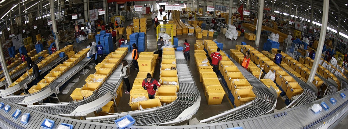 JD.com has been investing heavily in its logistic units to keep up competition from Amazon and Alibaba © JD.com