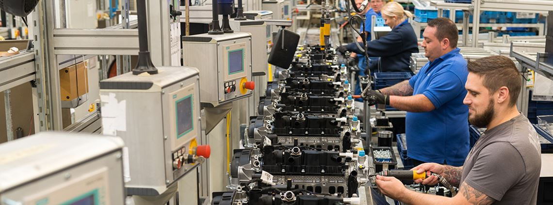 Ford Bridgend currently makes half a million engines a year for Ford's own models ©Roger Donovan/Ford