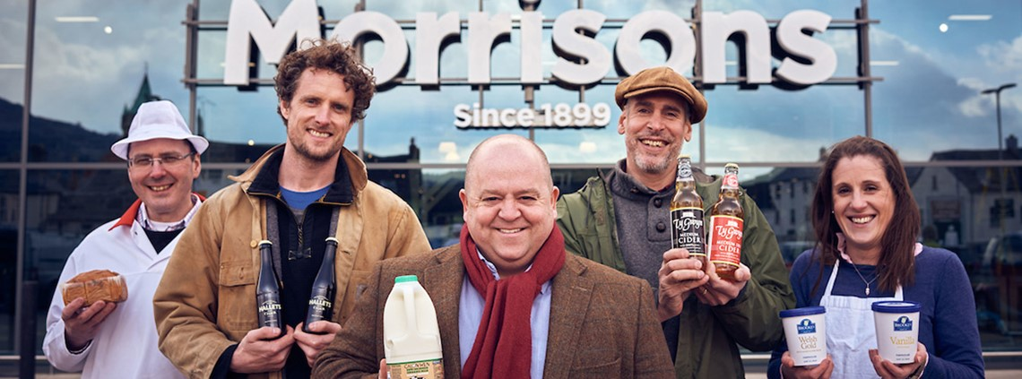 Sales of local products have grown 50% since in the past two years © Morrisons