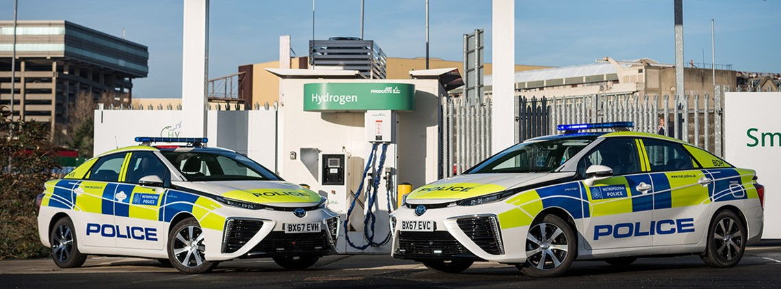 The Met Police bought 11 Toyota Mirai hydrogen cars, which retail for £66,000 each © Toyota