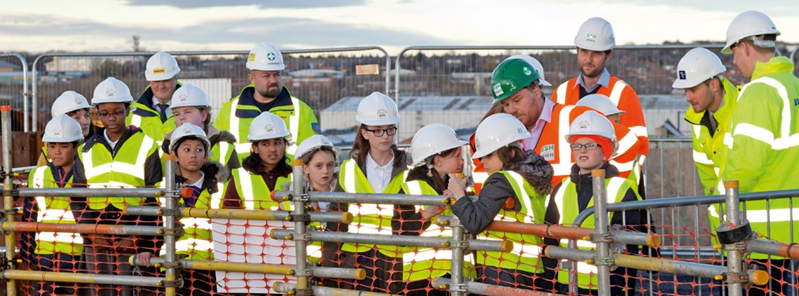 NWG partners teach local school children about site safety and jobs in the industry ©Chapman Brown Photography