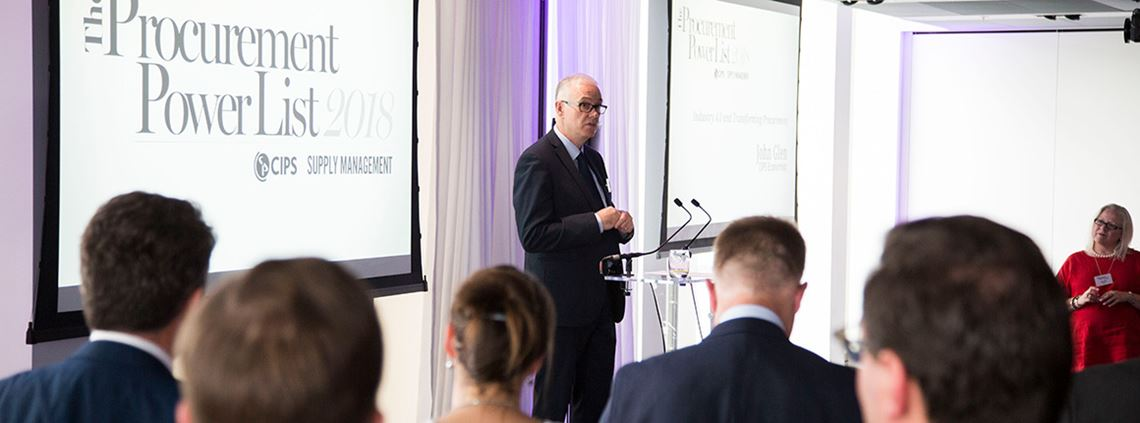 John Glen spoke at the inaugural CIPS Supply Management Procurement Power List event in June  ©Julian Dodd