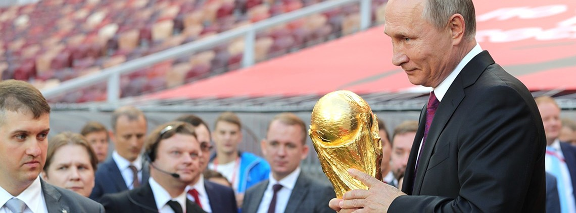 Putin, holding the World Cup in 2017, will be untroubled by the cost of the competition © Zuma Press/PA Images