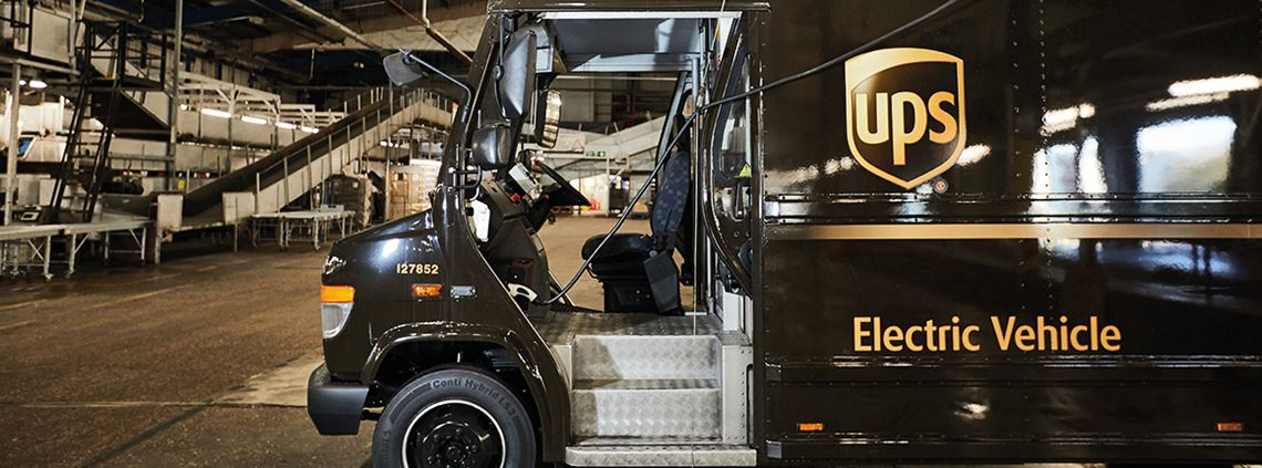 Not your average truck: UPS uses a combination of refurbed EVs and bespoke electric vans ©Liam Arthur/UPS