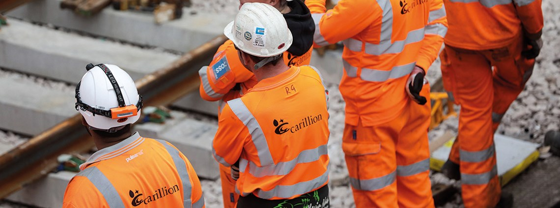 Carillion's collapse has led to considerable scrutiny on contracting out public services ©Bloomberg/Getty Images