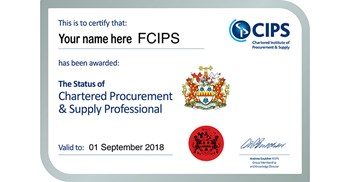 You too can achieve CIPS Chartered status