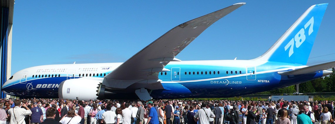 The Boeing Dreamliner was delivered three years late © PA Images