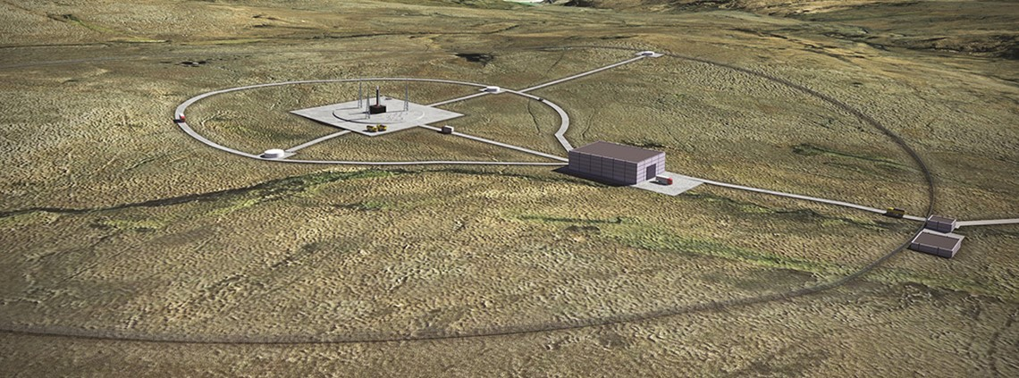 An artist's impression of what the Sutherland spaceport could look like ©Perfect Circle PV