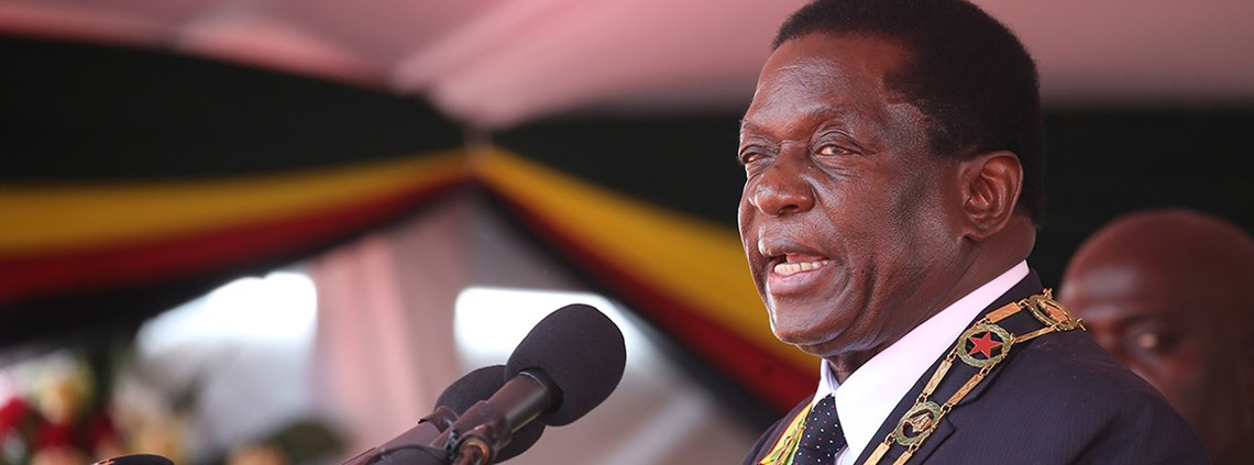 President Mnangagwa wants to enhance satellite communication systems © Xinhua News Agency/PA Images