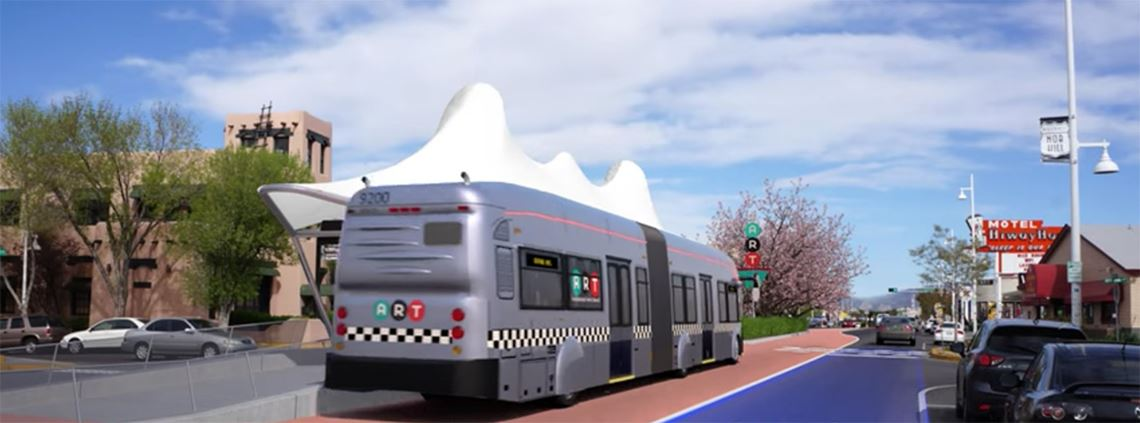 The ART is expected to be completed by the end of 2018 © Albuquerque Rapid Transit PSA